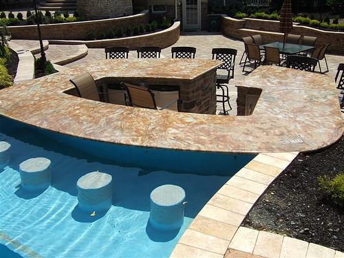 Sugar and spice backyard retreat - Pictures of pools with swim up bars ...