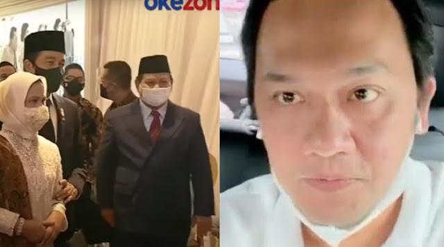Jokowi-Prabowo Hadiri Nikahan Live Artis, Farhat Abbas: Berbau Bisnis, Mengganggu Konstitusional