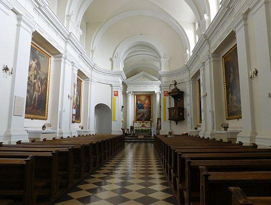 Wnętrze Sanktuarium Relikwii Drzewa Krzyża Świętego.