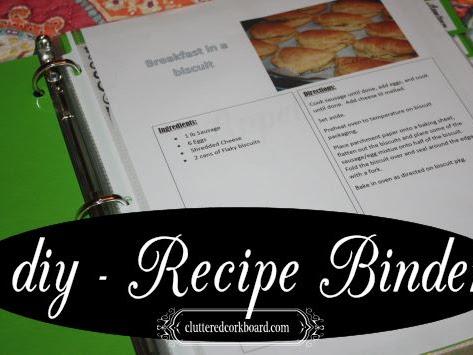 Organize it - Recipe Binder