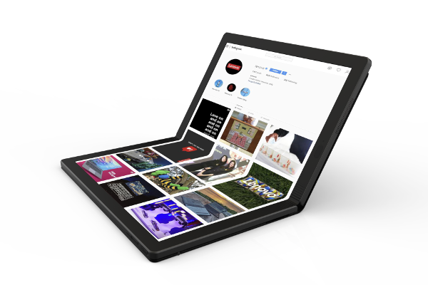 Lenovo shows off World's first foldable Laptop