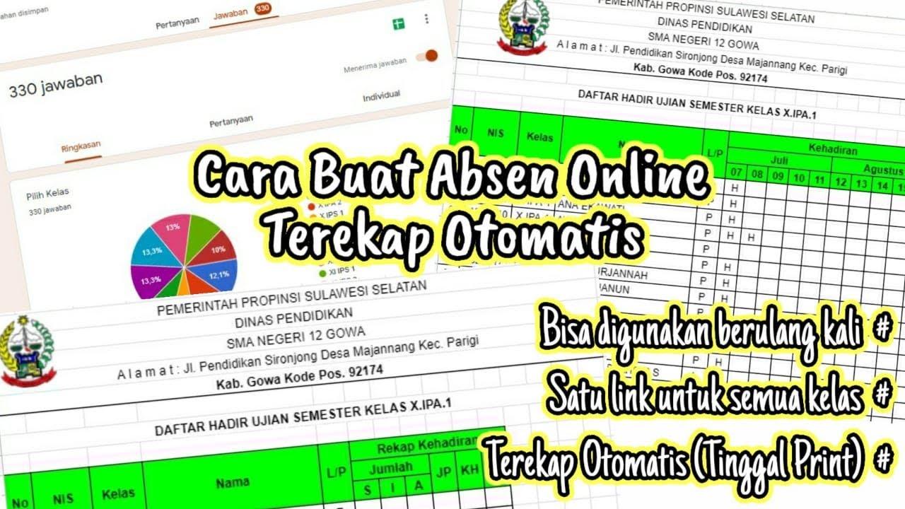 Cara Buat Absen Online dengan Google Form Terekap Otomatis