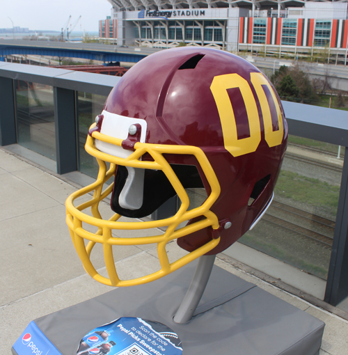 Washington Football Team helmet - a few years ago there would be a Redskins logo on the helmet