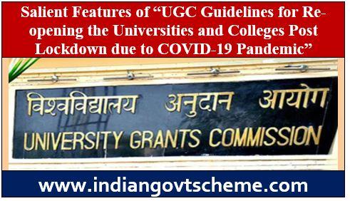 "Salient Features of ""UGC Guidelines"