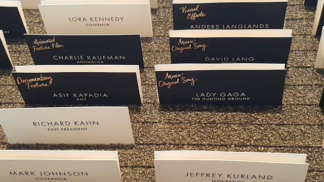 2016 Oscars Nominees Luncheon name tags