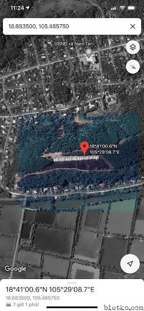 dòng chữ ĐỜI ĐỜI NHỚ ƠN BÁC HỒ VĨ ĐẠI khổng lồ trên bản đồ google- maps ảnh 2