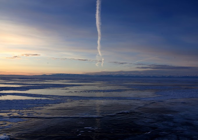 Ice of lake Baikal
