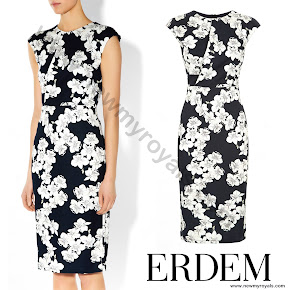 Sophie, Countess of Wessex wore ERDEM Analena Dress