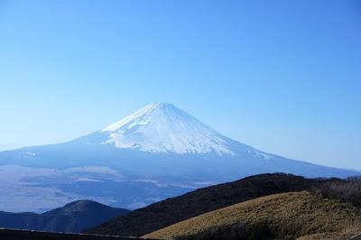 Mount Fuji seen from Mount Komagatake Hakone Japan