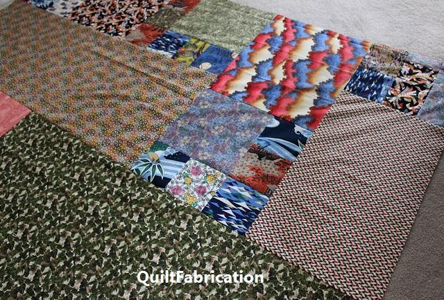 Kimono quilt pieced backing