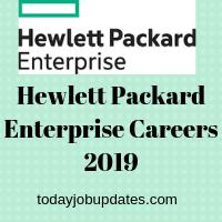 Hewlett Packard Enterprise Careers 2019