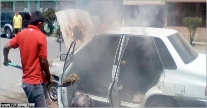 En Lara los vehículos también se incendian solos tras tener gasolina Iraní