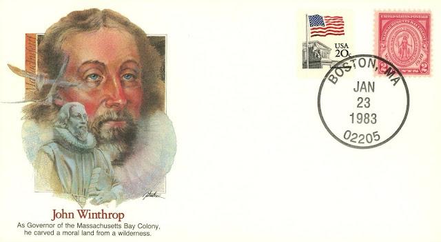 Boston Massachusetts MA John Winthrop Governor Puritan.j