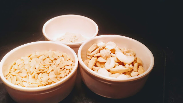 Cashew nuts melon seeds White pepper powder Food Recipe Dinner ideas