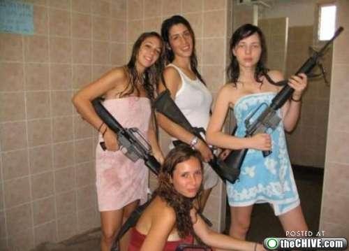 guns with Amateur girls