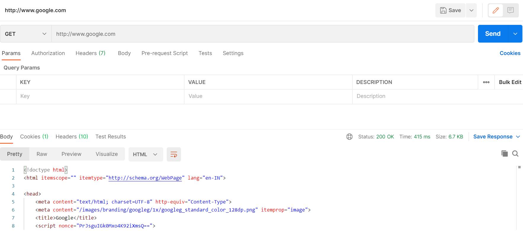 web server example