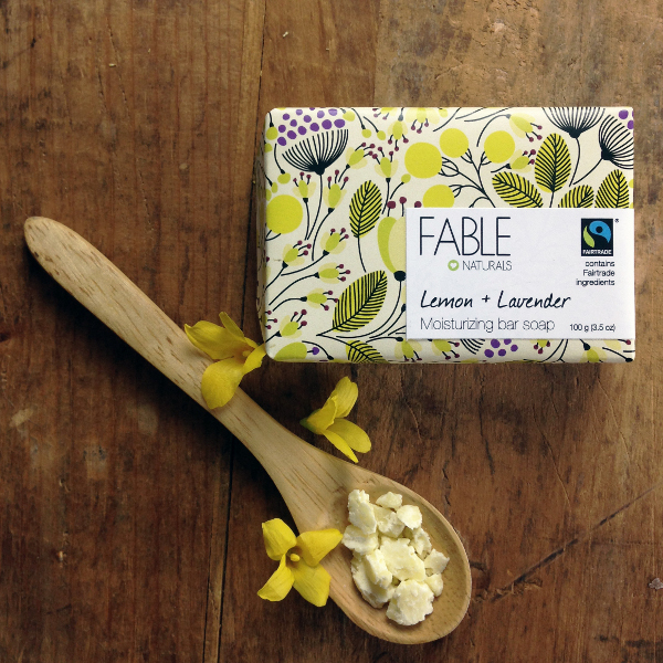 Fable Naturals Lemon + Lavender Bar Soap