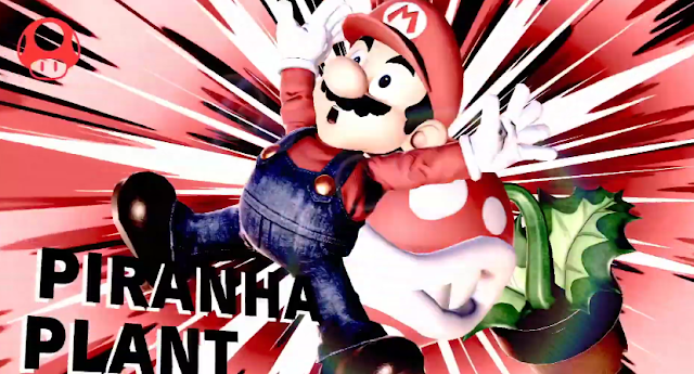 Piranha Plant victory screen bites Mario Super Smash Bros. Ultimate win