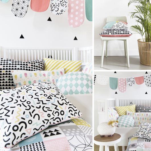 BB Fabrics & Little Smilemakers Studio // New Memphis style inspired collection