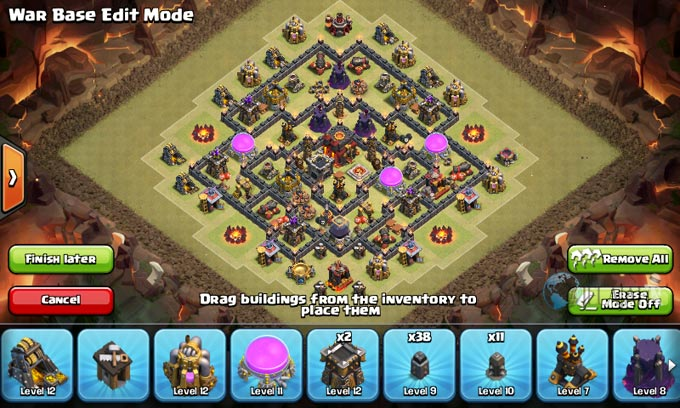 Susunan Formasi Base War TH 8 Update Terbaru 12