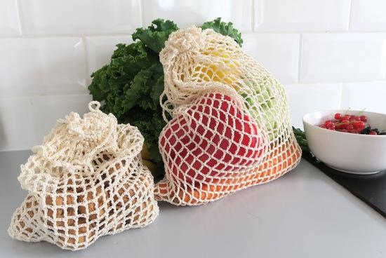 Szydełkowe ekologiczne woreczki