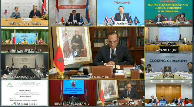 """البرلمان المغربي يحظى بعضوية هيئة برلمانية أسيوية بعد إسدال الستار اليوم  على أشغال الدورة 41 لـ""""آسيان"""" المنعقدة """"عن بعد"""" بهانوي✍️👇👇👇"""