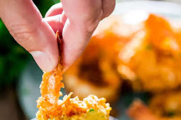 Coconut Shrimp with Spicy Mango Dipping Sauce