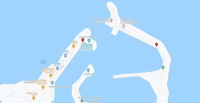 Howth Harbour Map: Ireland's Eye Ferry