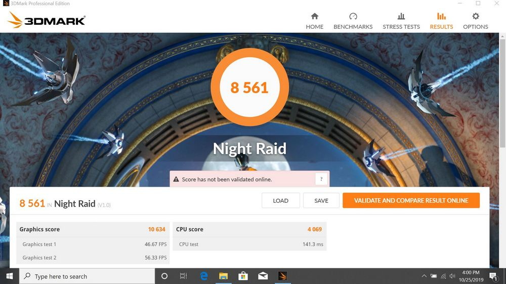 Benchmark 3DMark Night Ride Asus ZenBook UM431DA