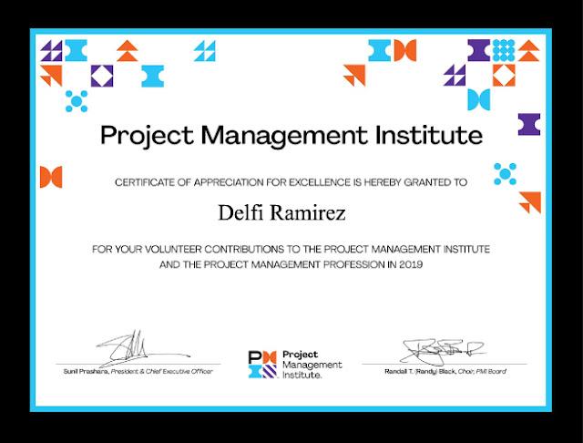 Delfi Ramirez. Volunteer Contribution to PMI (Project Maagmente Institute)