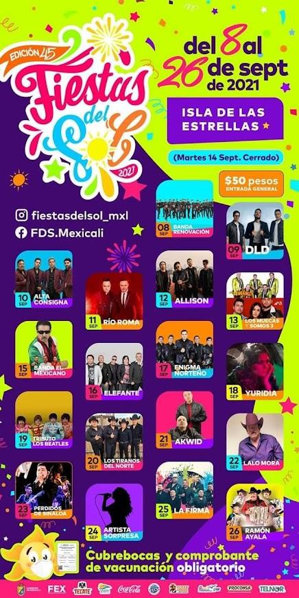 isla de las estrellas 2021 fiestas del sol mexicali
