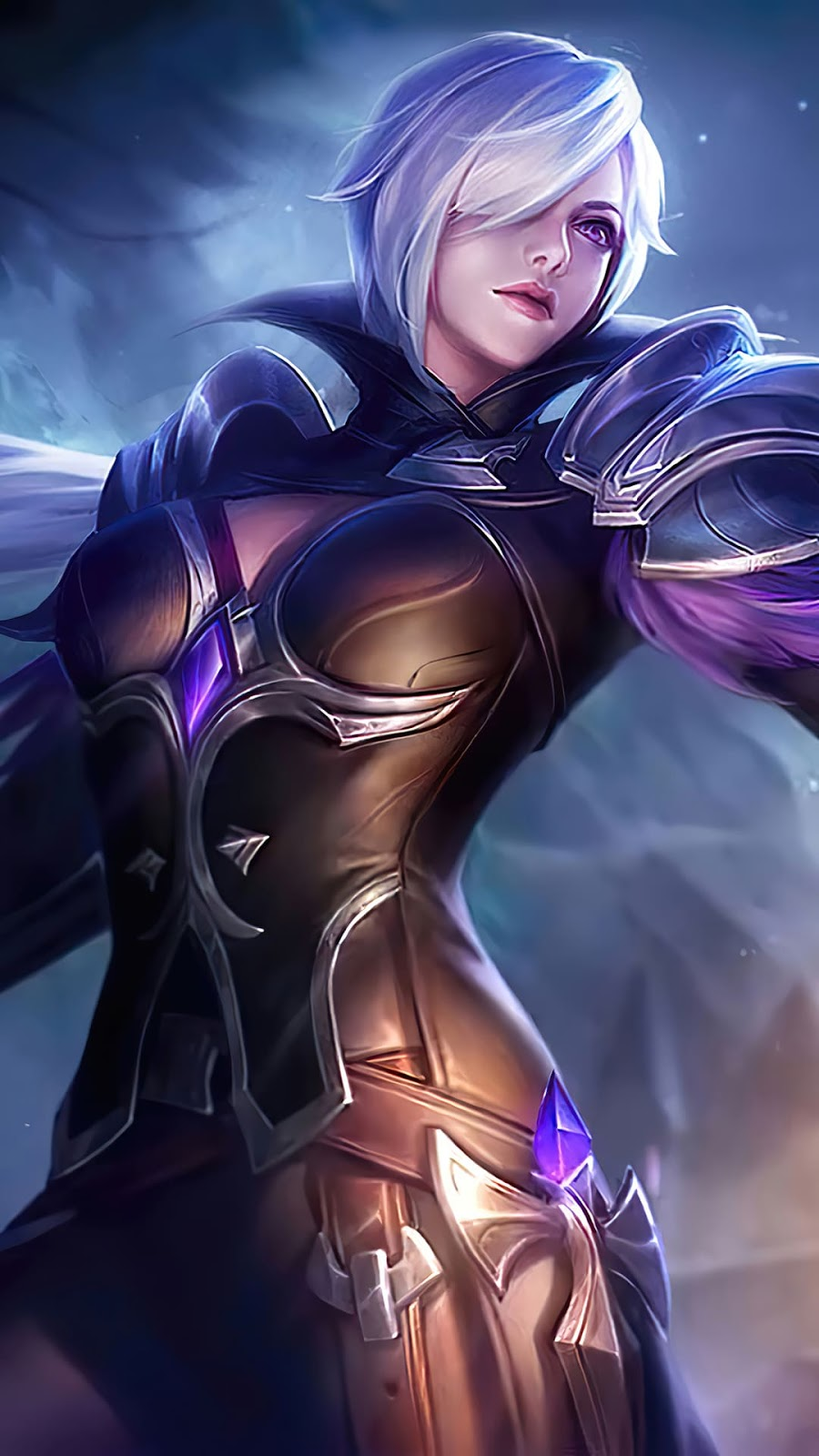 Wallpaper Silvanna Midnight Justice Skin Mobile Legends HD for Android and iOS