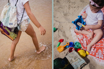 imprescindibles playa bebé mochila red vacia arena porta juguetes playa