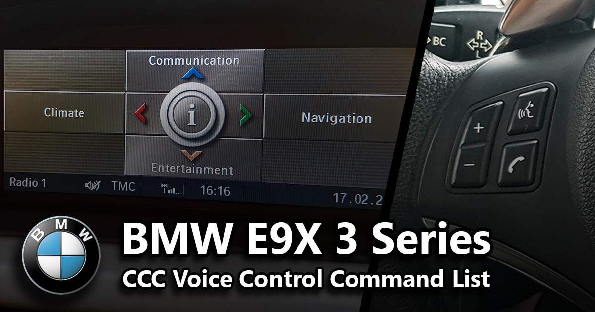 The Commands Below Should Work For Any E90 E91 E92 E93 I E E9x With A Ccc Idrive Module Ve Also Made List Non Cars At Bottom