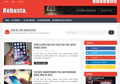 Robusta Blogger Template | wiki Themes galaxy