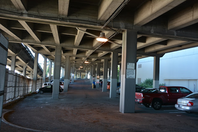 Seattle parking under highway