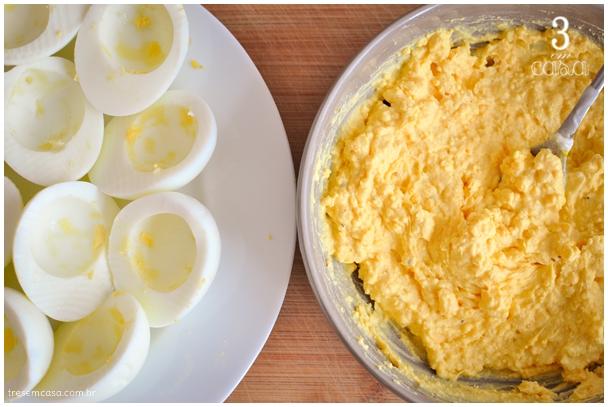 receita de deviled eggs