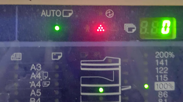 toner indicator message error