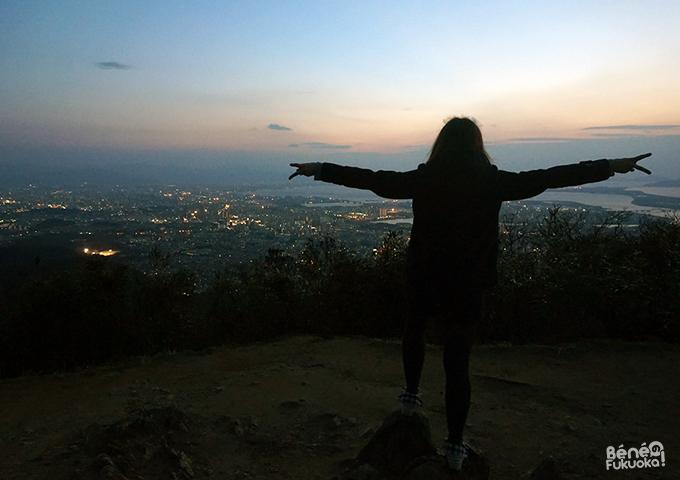 立花山から福岡の夜景