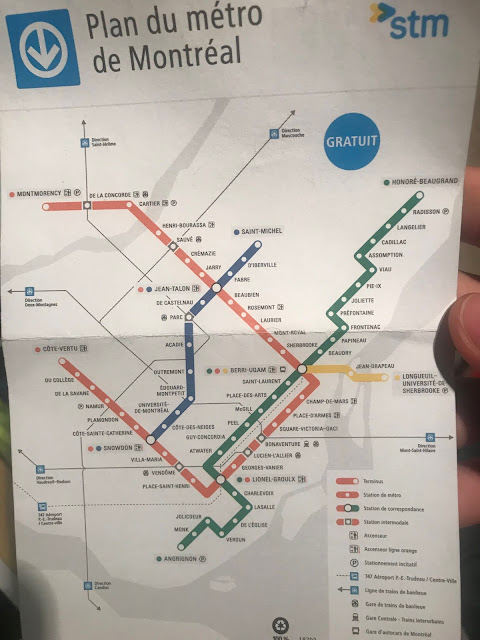 Mapa metrô Montreal