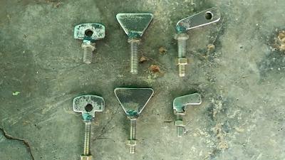 Contoh Baut Knob dari Plate Besi Strip