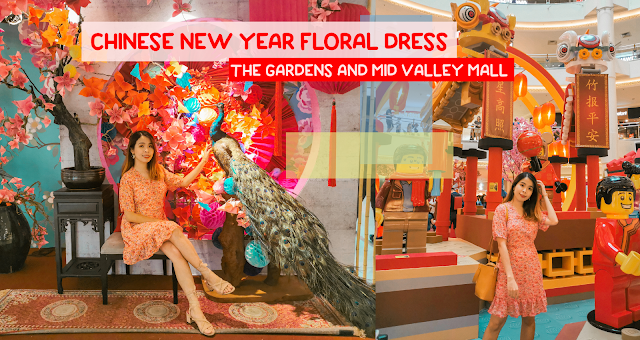 Floral Dress Outfit CNY at The Gardens and Mid Valley Mall