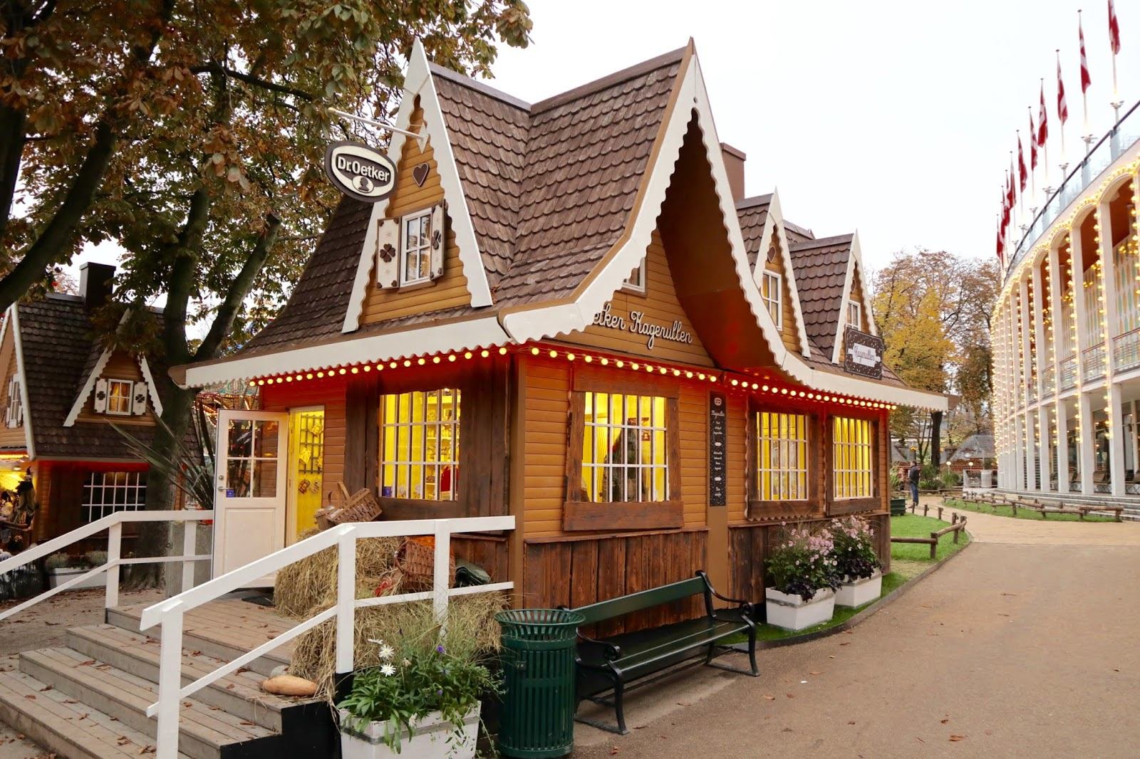 Tivoli Gardens at Halloween shops