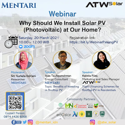 Webinar Why Should We Install Solar PV (Photovoltaic) at Our Home?