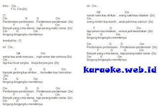 Lirik Lagu dan Kunci Gitar Perdamaian - Nasida Ria
