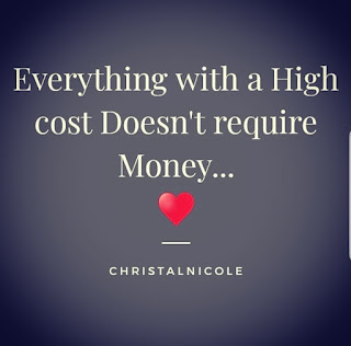 everything with a high cost doesn't require money