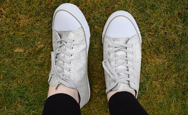 Metallic Converse Style Shoes