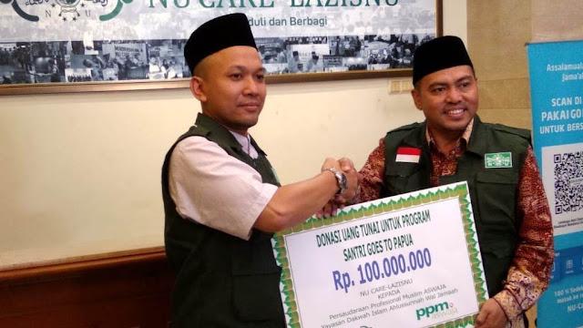 NU Care-LAZISNU Bantu Program Dakwah Santri di Papua