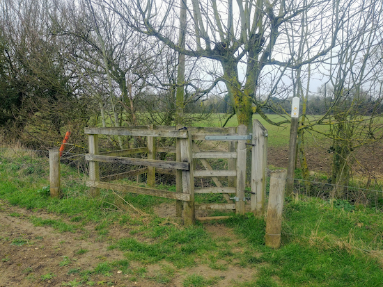 The gate leading to footpath 19 mentioned in point 9 above
