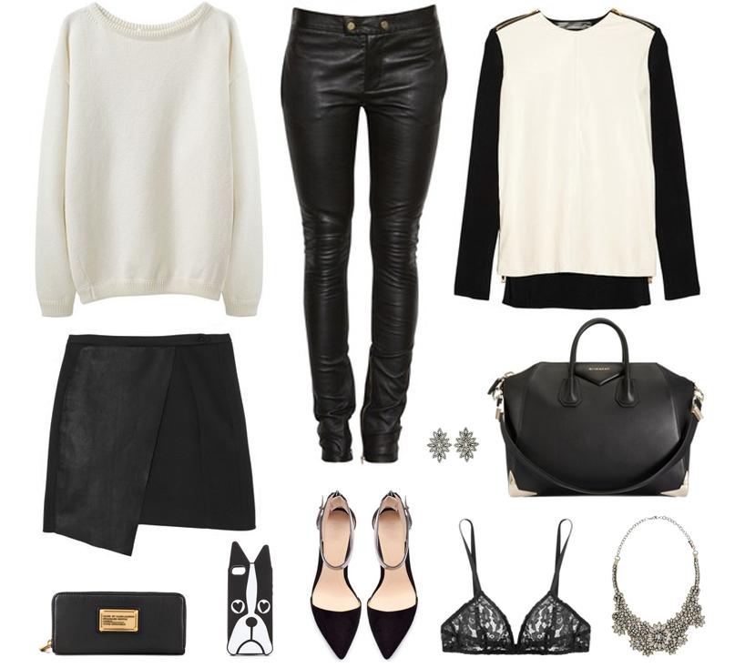 monochrome black white style fashion designer